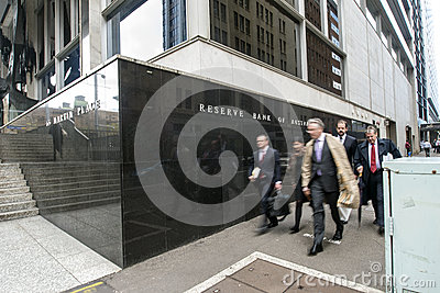 Business people Reserve Bank Building Editorial Photo