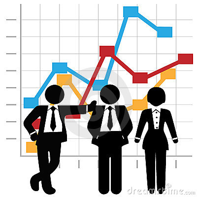 Free Business People Sales Team Graph Chart Royalty Free Stock Photos - 7021928