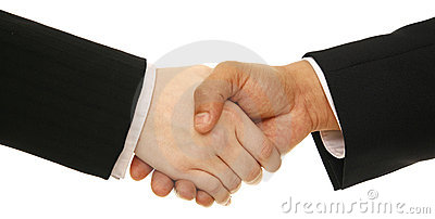 Business People Shake Hand