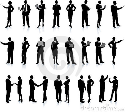 Free Business People Silhouette Super Set Stock Photo - 12134250