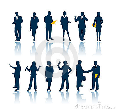Free Business People Silhouettes Stock Image - 696841
