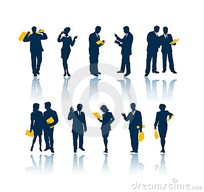 Free Business People Silhouettes Royalty Free Stock Images - 930799