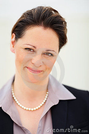 Business people - Smiling middle aged  woman