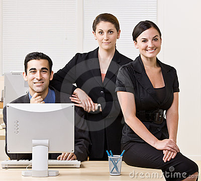 Business People Smiling And Posing Together Royalty Free Stock Photo - Image: 17056085
