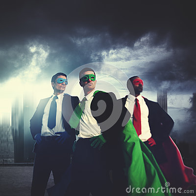 Business People Superheroes Costume Power Concept