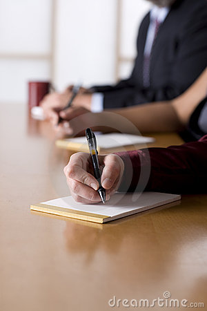 Free Business People Taking Notes In A Meeting Royalty Free Stock Photos - 4776548