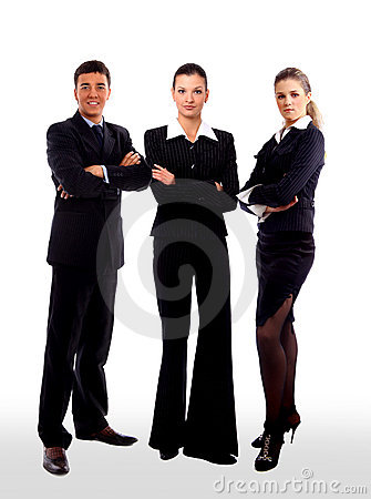 Business people and team