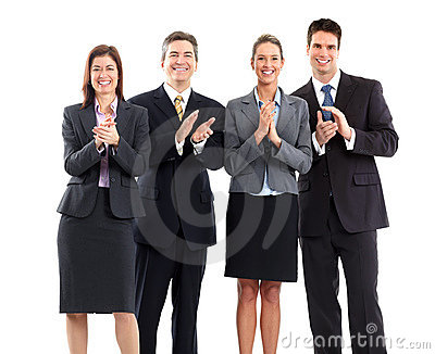 Business people team clapping