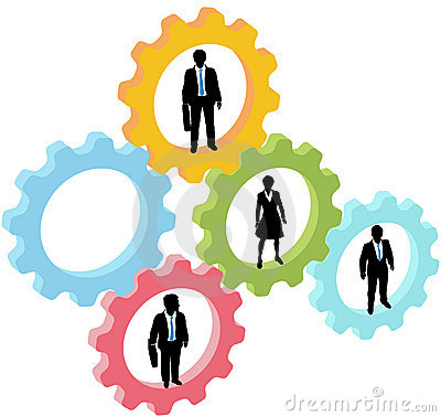 Free Business People Team In Technology Gears Stock Photos - 21732213