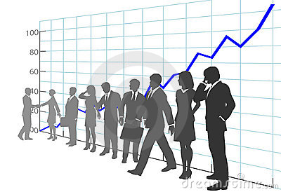 Business People Team Profit Growth Chart