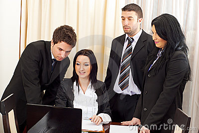 Business people team working in office