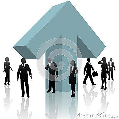 Free Business People UP Arrow Teamwork Progress Royalty Free Stock Image - 10718096