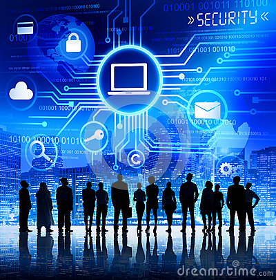Free Business People With Information Security Concept Royalty Free Stock Photography - 39123707