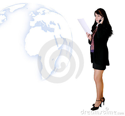 Free Business People - Woman Calling With News Royalty Free Stock Image - 51636