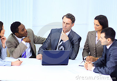 Business people in a work