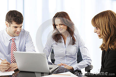 Business people working in group