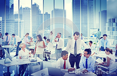 Business People Working in an office Concept