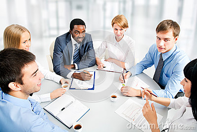 Business people working together.