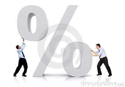 Business percentage sign
