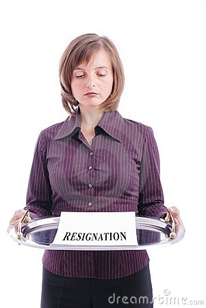 Business person - resignation