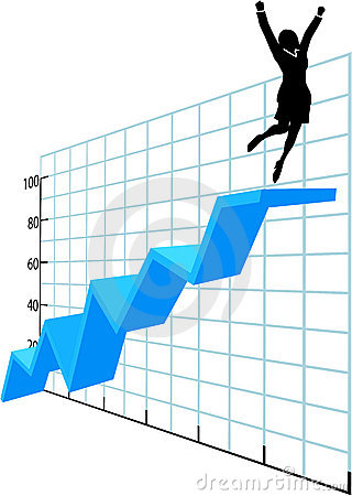Free Business Person Up On Company Growth Success Chart Stock Photo - 17582180