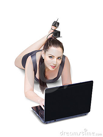 Business Person Working Online With New Technology