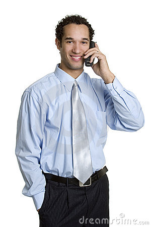 Business Phone Man