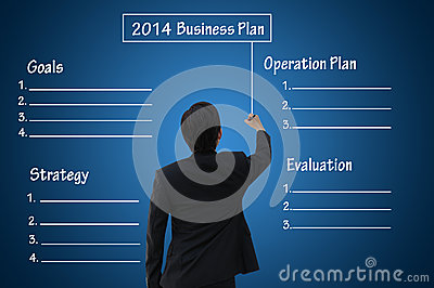 2014 Business plan with blank chart