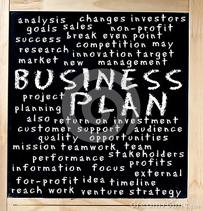 Business Plan Concept Written on Chalkboard