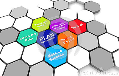 Business Plan Diagram connection beehive background