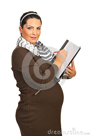 Business pregnant woman