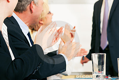 Business Presentation Applause Stock Photo - Image: 12763020
