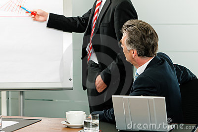 Business - presentation in front of the boss