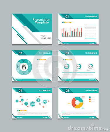 Free Business Presentation Template Set.powerpoint Template Design Backgrounds Royalty Free Stock Images - 58263529