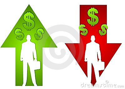 Dollar With Profit Loss Sign Royalty Free Stock Photo - Image ...