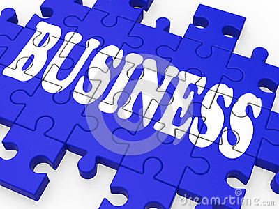 Business Puzzle Showing Corporate Deals