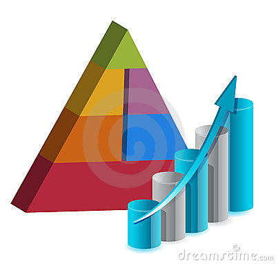 Business pyramid chart illustration