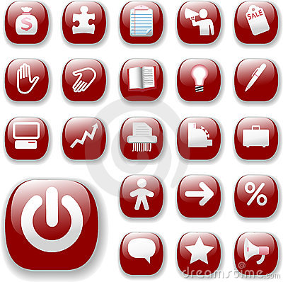 Business Retail Icons Ruby Red
