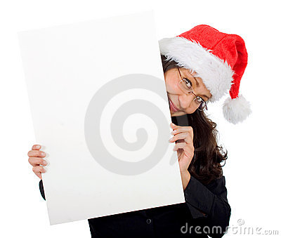 Business Santa Holding Royalty Free Stock Photography - Image: 3264247
