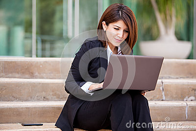Business school student working