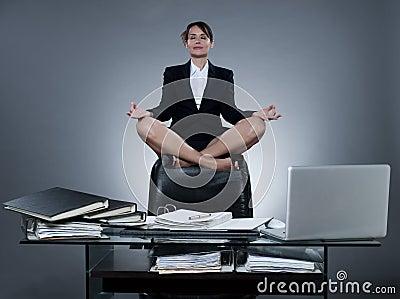 Business secretary woman levitation