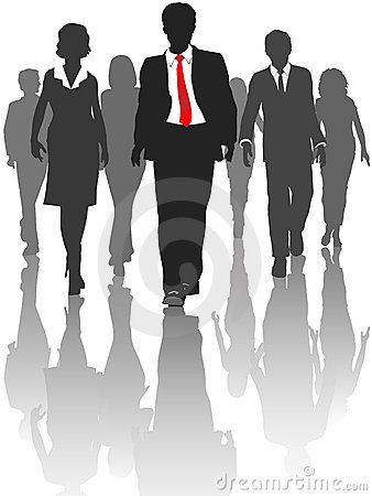 Free Business Silhouette People Walk Human Resources Royalty Free Stock Photography - 13929537