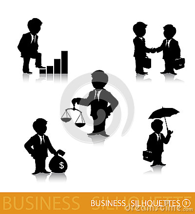Business silhouettes 1