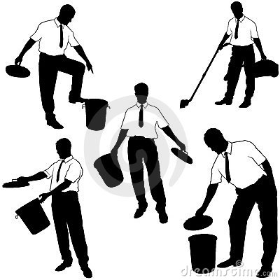 Business Silhouettes - Move to trash
