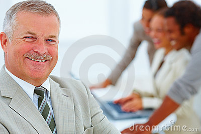 Business Situation - Businessman in a meeting