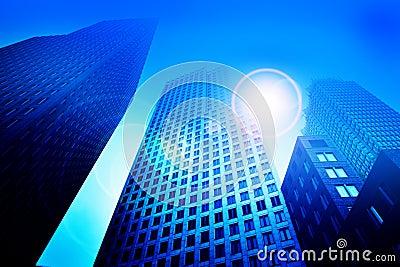 Business skyscraper buildings