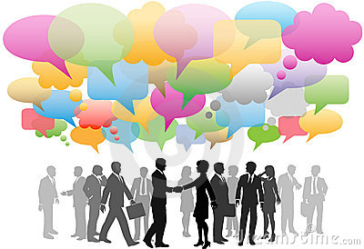 Business social media network speech bubbles