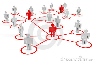 Business or social network. Concept.
