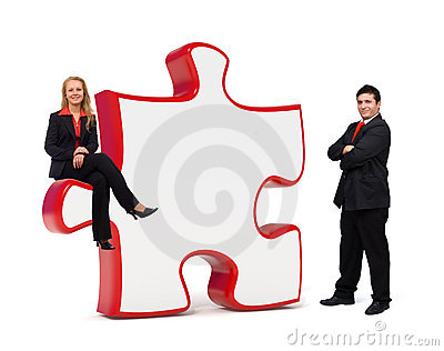 Business solutions puzzle board - Copyspace