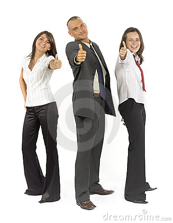 Free Business Staff Shows OK Royalty Free Stock Images - 1169579